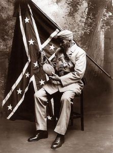 Confederate Flag and Black Soldier